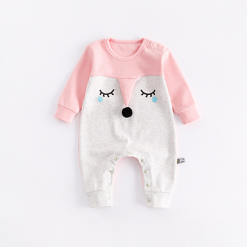 peninsula baby new autumn winter cute baby rompers carton Animal comfortable thick kid climbing clothes new born baby jumpsuits<br>