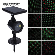 Christmas Laser Projector Sky Star Stage Spotlight Showers IP65 Outdoor Solar Panel Landscape Garden Lawn Light Projector Lamp(China)