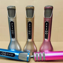 Second Generation K068i Wireless Microphone Super Mini Light microfone with Mic Speaker Condenser Karaoke Player KTV Singing