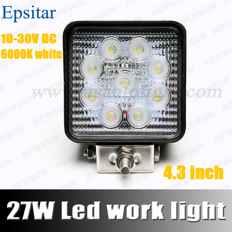 FREE SHIPPING 4 INCH 27W LED WORK LAMP OFFROAD 12V IP67 FLOOD FOR 4x4 OFF ROAD ATV TRUCK BOAT UTV WORKLIGHT DRIVING LIGHT<br><br>Aliexpress