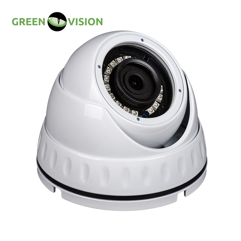 GREEN VISION Outdoor Vandal-proof Security IP Dome Camera in metal case RJ45 IP Surveillance Camera with 960P HD High Def. #4020<br>