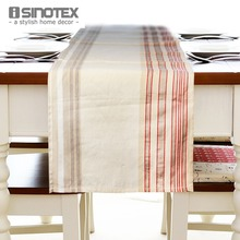 1pcs 37x145cm Linen Party Table Runner Table Cloth Striped Decor Table Cover For Wedding Decorative Home Feast toalha de mesa(China)