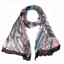 Uniquely Designed Wrinkle Fashion Vintage Women Scarf Echarpe Foulard Femme Girls Gift Size180*50cm No.11009