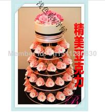 5 tier imported acrylic tray transparent organic glass foods such as bread plate rack sushi cake display stand decoration