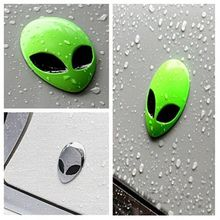 2017 Hot Full Metal 3D Alienware Alien Head Auto Logo Sticker Vinyl Badge Car Decals Graphic High Quality Car Styling
