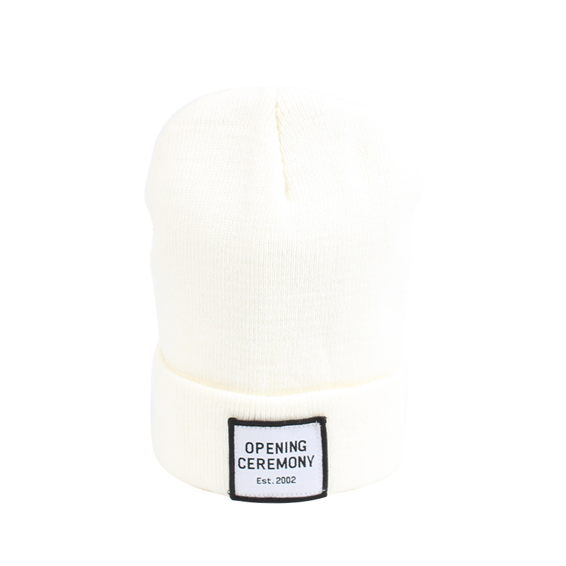 Knitted Cotton Women Beanie Hats Fashion OPENING CEREMONY Women Hats Autumn Winter Warm Female Hat Letter Hip Hop Women Skullies (10)