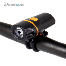 Deemount New Compact Bicycle Headlight Bike Handlebar Lamp USB Charge LED Lantern Torch Cycling Front lights BCL-213