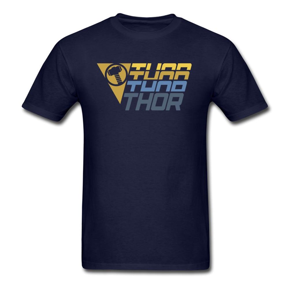 Star Wars Thor Logo Cotton Men Short Sleeve Tops & Tees Funny NEW YEAR DAY T Shirts Geek Tshirts Designer O Neck Thor Logo navy