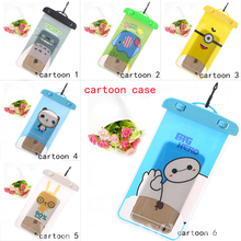 100% Sealed Waterproof Bag Case For Apple iPhone 3 3G 3GS 4 4S 5 5C 5G 5S 5SE 6 6s 7/6 6s 7 Plus/iPod Touch 5 6 Cartoon Cover