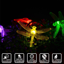Solar power dragonfly waterproof String Fairy light Garland Party Holiday home decoration Lighting LED string ligt IY601013