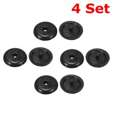 4 Set Seat Belt Buckle Stopper Clip Retainer Seatbelt Stop Button For Mercedes-Benz Black FCP-0292x00004-23(China)