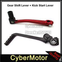 13mm Kick Starter Lever + Folding 11mm Gear Shifter Lever For Chinese Pit Dirt Bike 50cc 70cc 90cc 110cc 125cc YX Lifan Engine(China)