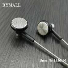 RY04 original in-ear Earphone metal manufacturer 15mm music quality sound HIFI Earphone (ie800 style), 3.5mm, New weaving cable(China)
