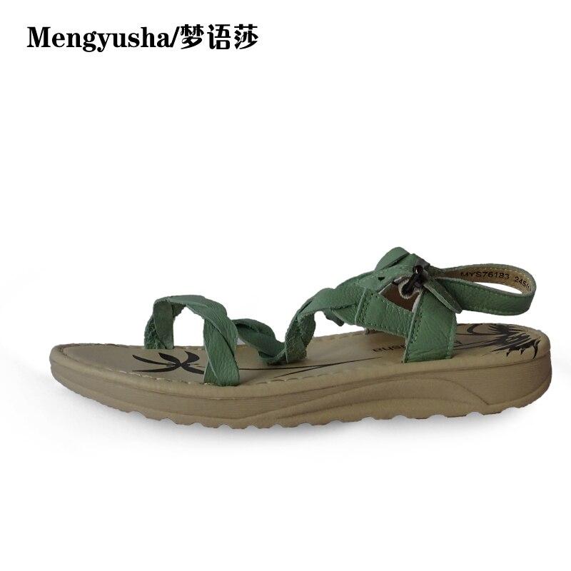 MengyushaSummer new wild open toe thick sponge bottom students Roman boys sandals flat feet large size<br>