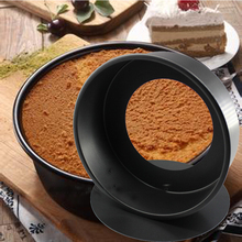 8 inch non-stick round bottom cake mold/ carbon steel mold mousse cheese oven baking tools