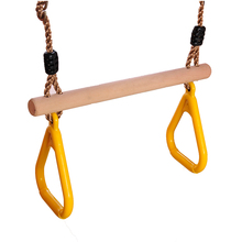 BOHS Blue and Yellow  Flying Rings Swing for Child &  Adult Pull-Up Pull Up Chinning Muscle Sports Toy Sports  Equipment