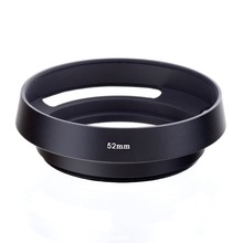Free Shipping 52mm 52 mm Black Metal Vented Camera Lens Hood For Leica M 52mm Thread Lens