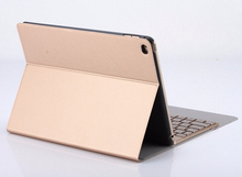 For apple iPad Pro 9.7 inch Keyboard Case,Trifold Slim PU Leather Smart Case Cover with Colorful Backlight Aluminum Keyboard