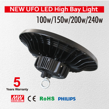 High brightness 200W UFO led high bay light SMD3030 led warehouse light AC85-265V with 5 years warranty