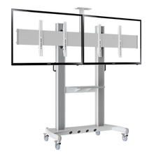 "NB AVT1800-60-2A Dual Screen TV Mobile Cart 40""-60"" LED LCD Plasma TV Mount Trolley Stand With AV Shelf And Camera Holder(China)"