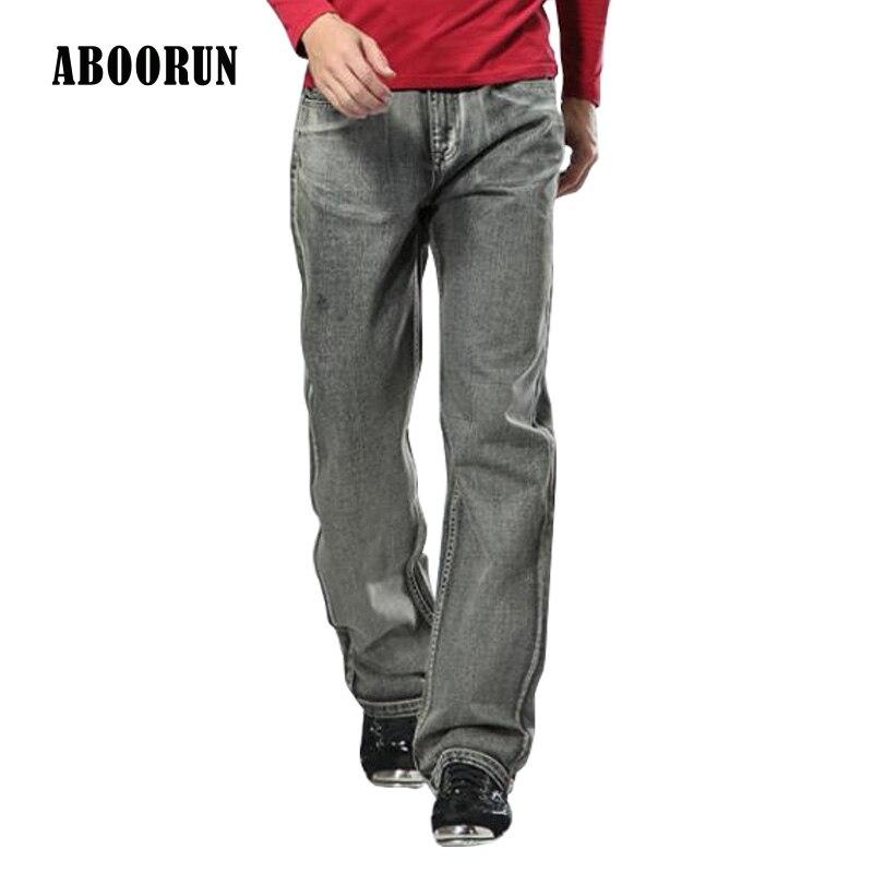 ABOORUN 2017 Mens Gray Baggy Jeans Retro Loose Straight fit Jeans Trousers Brand Designer Clothes Y2040Îäåæäà è àêñåññóàðû<br><br>