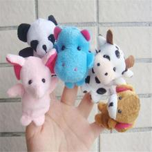 Fashion Baby Boys Girls Hand dolls Children Finger Toy 10pcs  Animal Finger Puppet Plush Child Baby Early Education Toys Gift