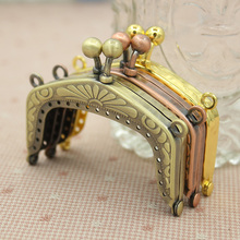 Four Colors Size 6 cm Wholesale Bag Accesssories Purse Handle Metal Purse Frame Bag Hanger Metal Accessories For Bag Purse Frame(China)