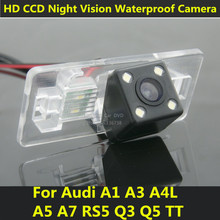For Audi A4L A4 TT A1 A3 A5 A7 Q3 Q5 RS5 Car CCD Night Vision Backup Rear View Camera Waterproof 170 Degree Parking Assistance