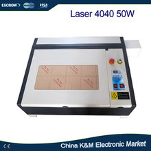 Free shipping Laser 4040 50w water cooling engraving machine cnc carving router with 50W CO2 laser tube with honey comb