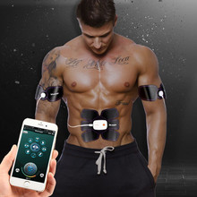 Muscle Stimulator EMS Stimulation Body Slimming Machine Wireless App Remote Control Abdominal Muscle Exerciser Trainer Massager(China)