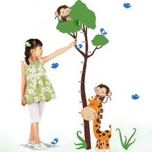 &7132 Trees Giraffe Height stickers living room wall stickers home decor waterproof for Chrismas kid gifts