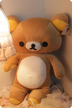 80cm Japanese kawaii brown Rikakkuma plush toy, big teddy bear rilakkuma bear, rilakkuma big plush bear stuffed animal doll