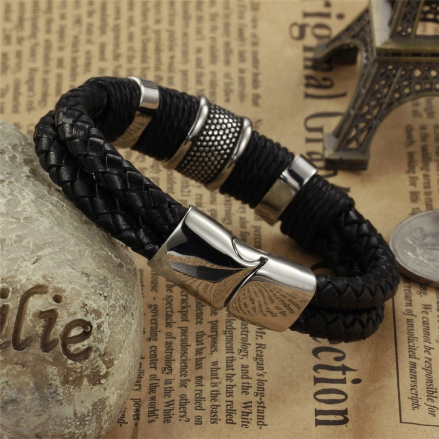 OPK-Handmade-Genuine-Leather-Weaved-Double-Layer-Man-Bracelets-Casual-Sporty-Bicycle-Motorcycle-Delicate-Cool-Men (3)
