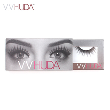 VVHUDA False Eyelashes 3D Mink Collection Natural Fibers Long Thick Volume Reusable Premium Extension Real Fake Eye Fur Lashes(China)