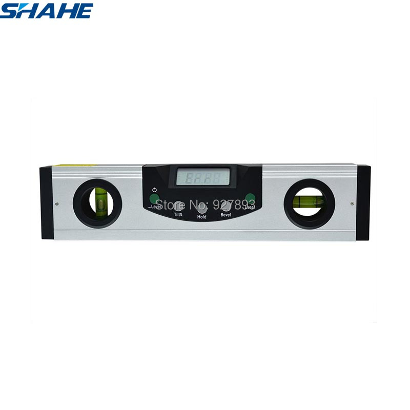 200 mm Aluminium Digital Level 360 degree Range Angle Red Laser Magnetic Level Angle Meter Measuring Instruments