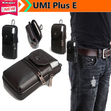 "Luxury Phone Genuine Leather Carry Belt Clip Pouch Waist Purse Case Cover for UMI Plus E 5.5"" Phone Bag Free Drop Shipping"