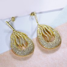 Luxurious Wedding earrings Evening Cocktail Party Must have Ladies Drop earings Gorgeous jewelry Elegant Dangle brincos de festa(China)