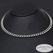 stainless steel 316L never fade 23 19 inches men male husband chain necklace chocker 5mm 6mm wide jewelry cool Gothic style 6103(China)