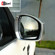 Car Styling Review Mirror Frame Cover For Land Rover Discovery 4 For Range Rover Sport 2014-2016 ABS Chrome Accessories(China)