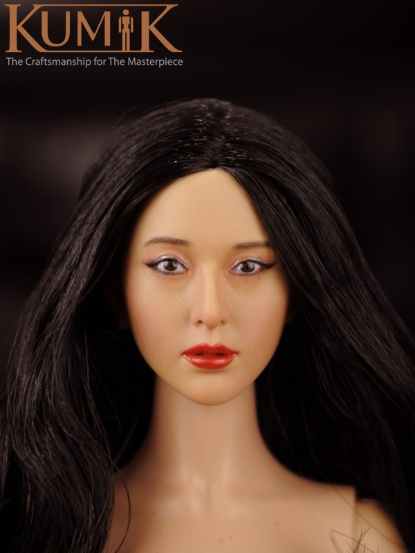 KUMIK 1/6 Scale Female Head Sculpt KM16-9 Female Head Carving for 12 Action Figure Accessories for HT toys Phichen Dolls<br><br>Aliexpress