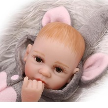 New Hot Sale Real Silicon Baby Dolls About 11inch 27cm Lovely BJD Doll reborn For Baby Gift Bonecal  Reborn Brinquedos