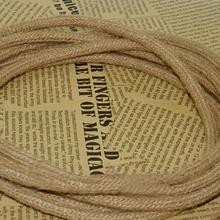 5M/Lot Edison Vintage Electrical Wire Rope Twisted Wire Retro Textile Braided Cable Pendant Light Wire Lamp Cord