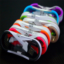1M Colorful noodle Flat V8 micro cable Accessory Bundles for Samsung Galaxy S4 S IV i9500 S3 i9300 N7100,Free shipping