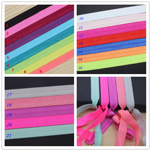 5/8'' Free shipping Fold Over Elastic FOE solid 21 colors options headband headwear hair band diy decoration wholesale OEM P3016