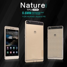 Nillkin Nature Series Ultra thin Transparent Soft TPU Case for Huawei P8 Back Cover for Huawei Ascend P8 Slim Silicone Cases(China)