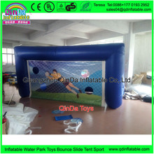 4m Long Shooting Practise Inflated Soccer Goal  Inflatable Football field Gate Football Training Beach Game
