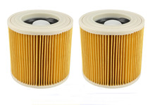 New 2pcs/lot Vacuum Cleaner Hoover Wet Dry Cartridage Filter for Karcher A1000 A2200 A3500 A223 WD2210 WD3300 VC6200