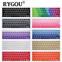 EU Layout Spanish Words Keyboard Cover For Macbook Pro 13 15 inch with Touch Bar A1706 A1707 Silicone Protective Skin Sticker