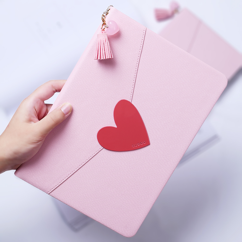 Girl Love Heart Magnet Flip Cover leather case For Apple iPad 9.7 2017 A1822 A1823 tablet Case soft silicone back cover case<br>