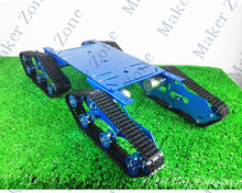 Colorful TR900 Tank Car Aluminum Alloy Chassis,DC Motor,High load Wall-e robot chassis for DIY tank Fans,Tank Design Competition